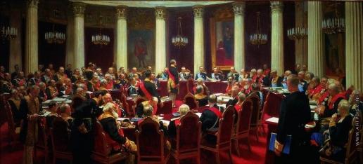 Репин И. Е. Торжественное заседание Государственного Совета 7 мая 1901 года в честь столетнего юбилея