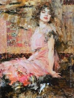 Фешин Н. И. Дама в розовом (Портрет Н.Подбельской)