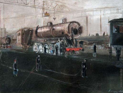 Лабас А. А. Луганск. На заводе