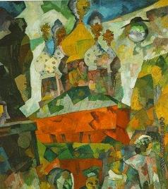 Лентулов А. В. «Тверской бульвар» («Страстной монастырь»)