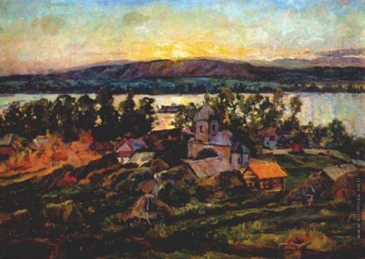 Лентулов А. В. Закат на Волге