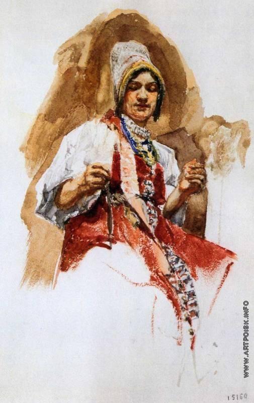 Врубель М. А. Пряха