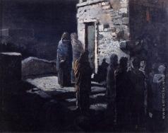 Ге Н. Н. Выход Христа с учениками с Тайной вечери