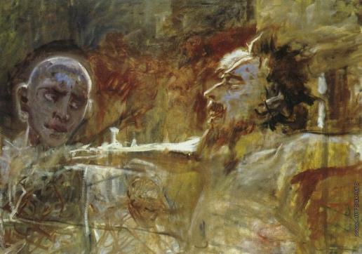 Ге Н. Н. Христос и разбойник (Этюд)