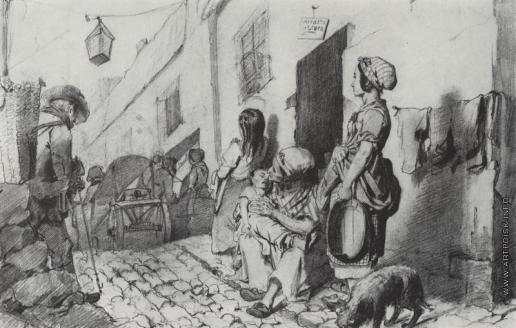 Перов В. Г. Похороны в бедном квартале Парижа
