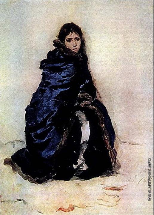Суриков В. И. Старшая дочь Меншикова. Этюд к картине «Меншиков в Березове»