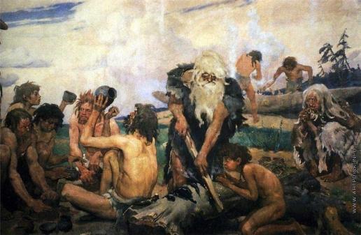 Васнецов В. М. Каменный век. Деталь фриза