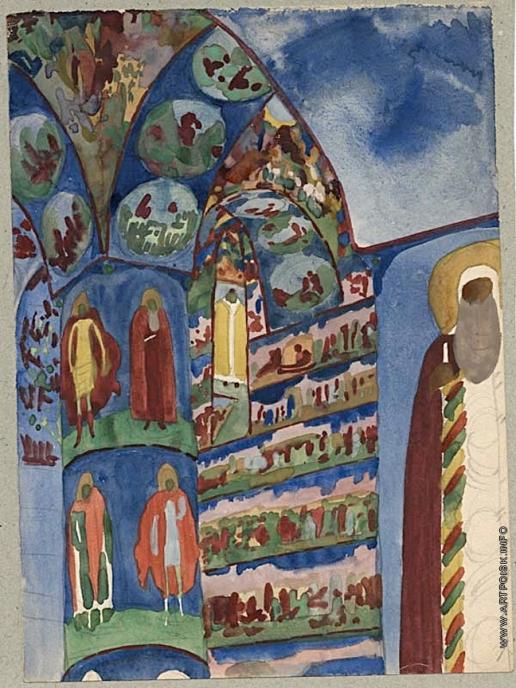 Тырса Н. А. Интерьер церкви Николы Мокрого в Ярославле