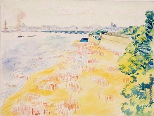 Тырса Н. А. Пляж у Петропаловской крепости