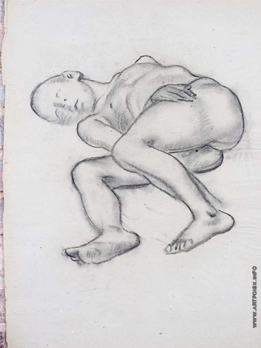 Тырса Н. А. Спящий мальчик на правом боку