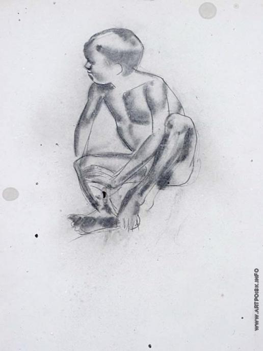 Тырса Н. А. Сидящий мальчик