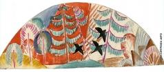 Тырса Н. А. Птицы. Эскизы декоративной росписи