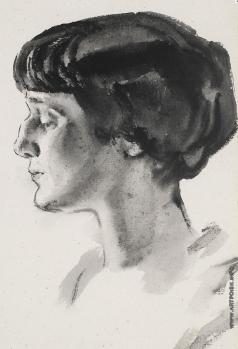 Тырса Н. А. Портрет Анны Ахматовой