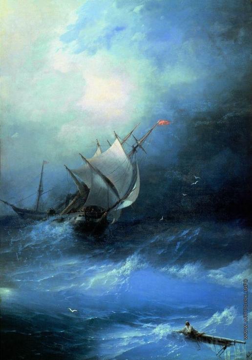 Айвазовский И. К. Буря на Ледовитом океане