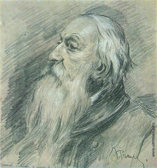 Репин И. Е. Портрет В.В. Стасова