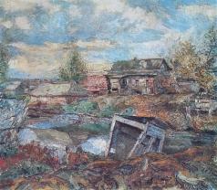 Бурлюк Д. Д. Сельский пейзаж