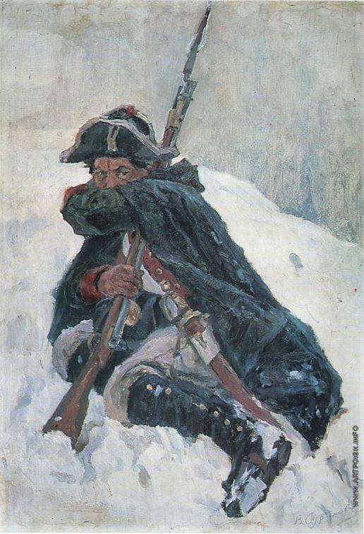 Суриков В. И. Солдат с ружьем