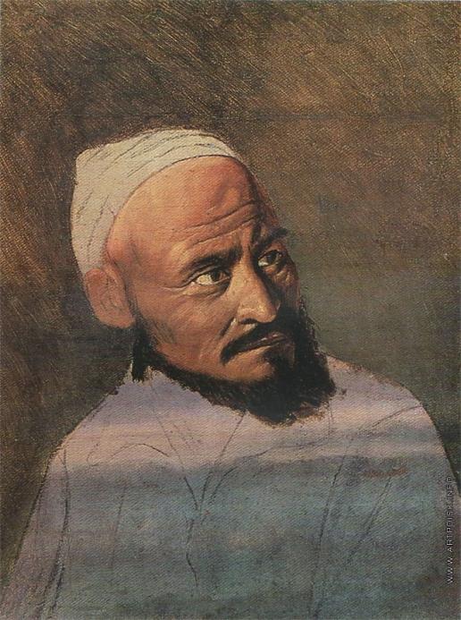 Перов В. Г. Голова киргиза