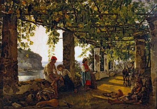 Щедрин С. Ф. Веранда, обвитая виноградом
