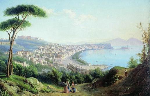 Щедрин С. Ф. Вид на Неаполь с дороги в Позилиппо