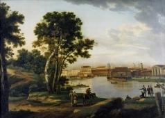 Щедрин С. Ф. Вид с Петровского острова на Тучков мост и на Васильевский остров в Петербурге