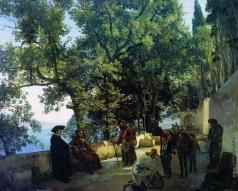 Щедрин С. Ф. Терраса на берегу моря. Капуччини близ Сорренто