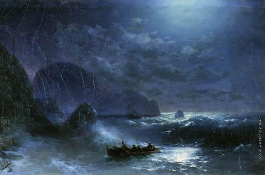 Айвазовский И. К. Буря на море ночью