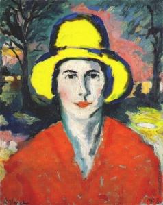 Малевич К. С. Портрет женщины в желтой шляпе
