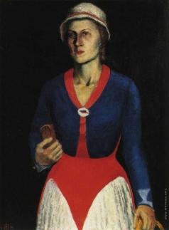 Малевич К. С. Портрет жены художника