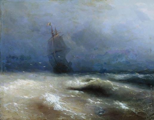 Айвазовский И. К. Буря у берегов Ниццы