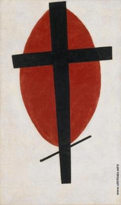 Малевич К. С. Супрематизм (Черный крест на красном овале)