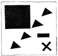 Малевич К. С. Супрематическая группа с использованием треугольника