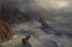 Айвазовский И. К. Бушующее море. Эскиз