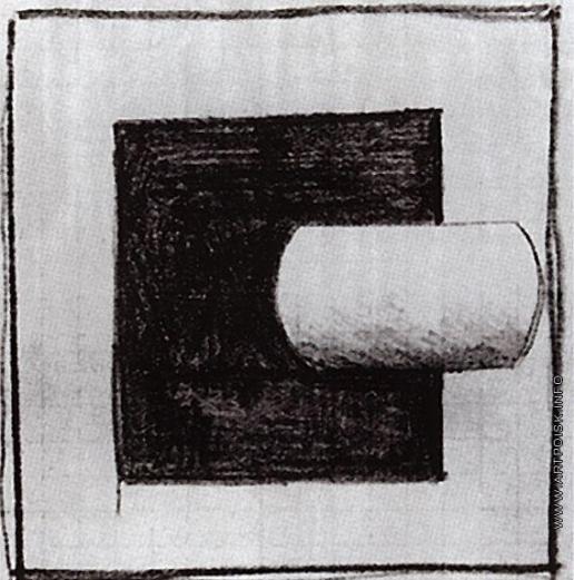 Малевич К. С. Черный квадрат и белая трубчатая форма