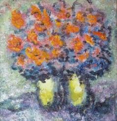 Бух А. Ф. Красно-оранжевые цветы