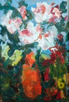 Бух А. Ф. Цветы в красной вазе