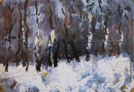 Бух А. Ф. Зимний пейзаж
