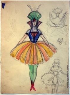 Бехтеев В. Г. Эскиз женского костюма. Балерина