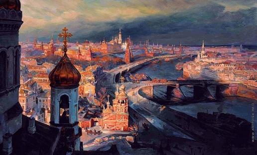 Киселев К. В. Вид Москвы с Храма Христа Спасителя. Конец XIX века