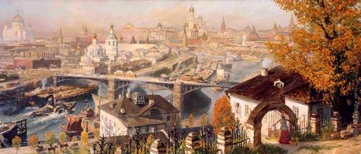 Киселев К. В. Вид Москвы со Швивой горы. Конец XIX века