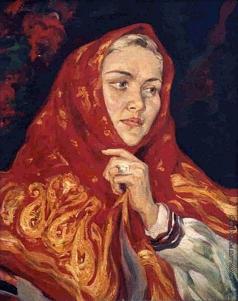 Киселев К. В. Портрет в платке
