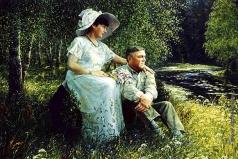 Киселев К. В. Портрет супругов Урусовых