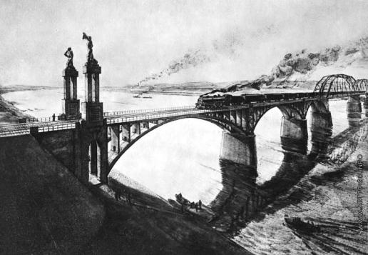 Лехт Ф. К. Проект архитектурно-скульптурного оформления железнодорожного моста