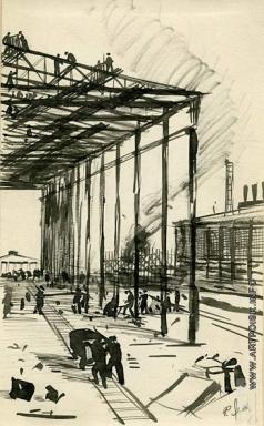 Лехт Ф. К. На строительстве завода