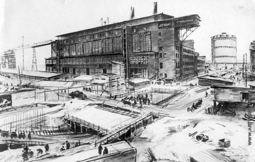 Лехт Ф. К. Березники. ТЭЦ и сооружение большого тоннеля