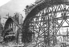 Лехт Ф. К. Строительство железнодорожного моста