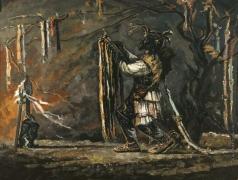 Козорезенко П. П. «Зов предков». Правая часть триптиха «Русь ушедшая»