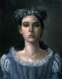 Козорезенко П. П. Портрет девушки в голубом