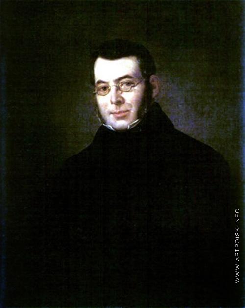 Плюшар Е. А. Портрет неизвестного в очках