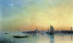 Айвазовский И. К. Вид Венеции с лагуны при закате